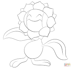 Pokemon Coloring Page Sunflora Pmd Team Seishin Prologue Page 2 By