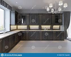 Dark Furniture Interior Design Modern English Classic Style Kitchen Interior Design With
