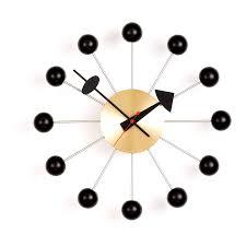 ball clock brass