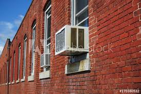 old brick wall building perspective and