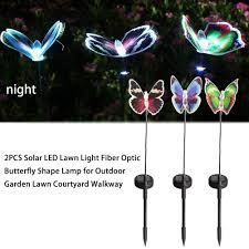 Solar Butterfly Wall Light Us 6 73 19 Off 2pcs Solar Led Lawn Light Fiber Optic Butterfly Shape Lamp For Outdoor Garden Lawn Courtyard Walkway In Outdoor Wall Lamps From