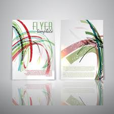 two sided flyer template free double sided flyer template with abstract design vector free download