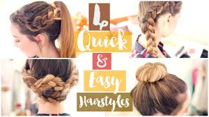 Very Easy Cute Hairstyles How To 4 Quick Easy Hairstyles Zoella Ad Youtube