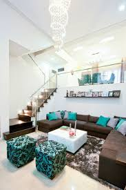 Decoration Ideas Beauteous Image Of Living Room Decoration Using Home Decor Turquoise And Brown
