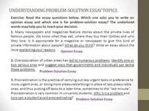 problem solution essays topics personal character sketch example problem solution essays topics