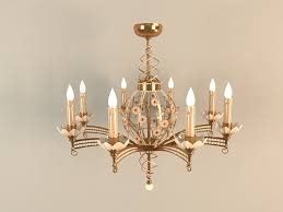 electric candle chandelier 3d model