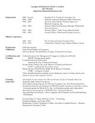 Military To Civilian Resume Examples Infantry Free Samples Canadian