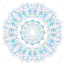 Fashion Surface Design Vector Hand Drawn Floral Color Mandala Design For Fashion Surface