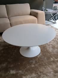 saarinen 90cm round coffee table white laminate ex display
