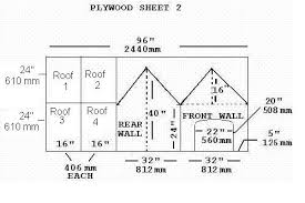 plywood sheet dimensions to build a dog house
