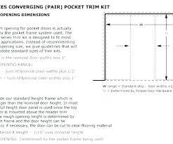 Pocket Door Dimensions Cavity Sliding Door Dimensions