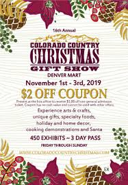 Christmas Gift Coupon Colorado Country Christmas Gift Show At The Denver Mart
