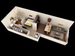 High Quality 25 One Bedroom HouseApartment Plans 1 Bedroom Floor Plans
