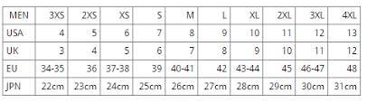 Scubapro Rock Boots Size Chart 80 All Inclusive Scubapro Sizing Chart