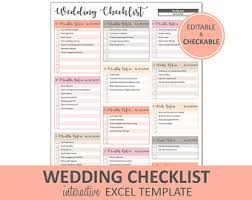 wedding checklist templates wedding checklist etsy