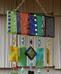 glass art fused stained wind chime by glassart chimes sound effects