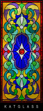victorian stained glass bathroom transom window pinellas