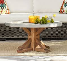 acacia round coffee table brown