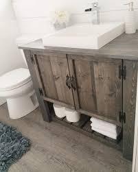 Bathroom Vanitiy Cool Love The DIY Rustic Bathroom Vanity Cabinet Istandarddesign Hazlo