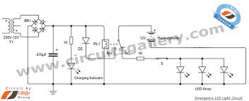 led 12v emergency light circuit diagram circuits gallery emergency light circuit