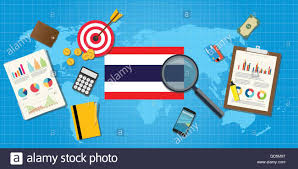 Thailand Stock Chart Thailand Economy Economic Condition Country With Graph Chart