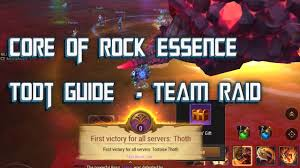 todt guide core of rock essence crusaders of light