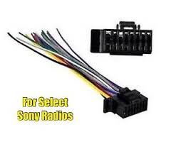 car stereo radio replacement wire harness plug for select sony 16 image is loading car stereo radio replacement wire harness plug for