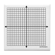 Four Quadrant Math Graph Paper Tile Coaster