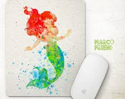 disney office decor. disney princess the little mermaid ariel watercolor art prints poster office decor n