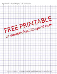 Graph Paper Free Printable Free Printable Resource Quilters Graph Paper With 1 4 Inch Grid