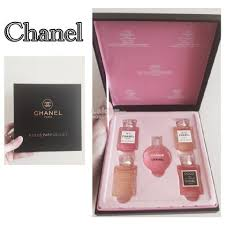 chanel 5 gift set. chanel perfume 5 in 1 premium gift set miniature chance (