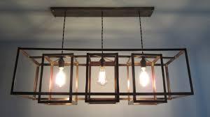 image of rectangle chandelier lighting