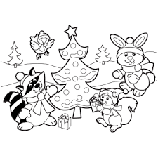 Small Picture Holiday Scene Coloring Page Free Christmas Recipes Holiday