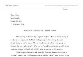 after reading salvation by langston hughes i have a mixed feeling  document image preview