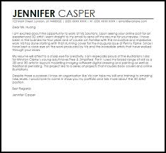 cover letter example for portfolio 3d artist cover letter sample livecareer
