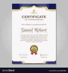Luxury Golden Certificate Template