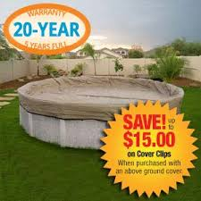 24 Foot Round Arctic Defender Shield II AboveGround Winter Pool Cover