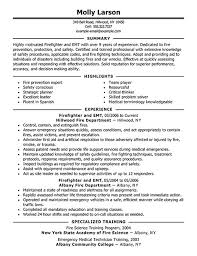 emt resume emt resume sample download firefighter examples templates emergency