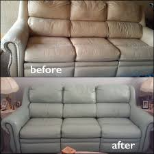 ash gray leather sofa restoration