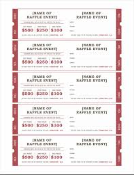 Draw Ticket Template Raffle Tickets