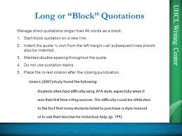 Apa Block Quote Simple An Introduction To Citing And Referencing According To Ppt Download
