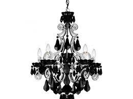 black chandelier clear crystals designs