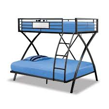 X Style Twin Over Full Bunk Bed by Condor Metal frame construction