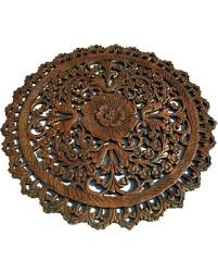 oriental round carved wood wall art decor dark brown on asian carved wood wall art with new savings on oriental round carved wood wall art decor dark brown