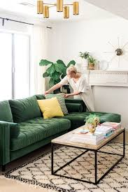 emerald green sofa. Fine Sofa Sofa Style Prediction This Is The New Navy So Inviting And Cozy U0026 Could  Change Pillows Easily For Springsummer Fallwinter In Emerald Green K