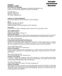 software test resume sample summary of work experience - A Sample Of Resume