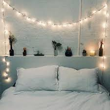 Fairy lights in bedrooms | Bedrooms V Lights  Around the bed head. Classic  and