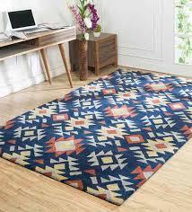 blue wool viscose hand tufted 60x96 inch modern kilim area rug by jaipur rugs ethnic motif carpets carpets carpets furnishing