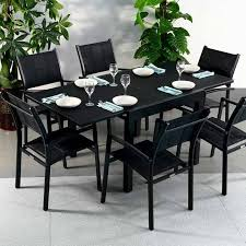 dining table set with lazy susan. lazy susan customer gardens. modern_black_6_seater_extending_garden_furniture_glass_top_outdoor_dining_table_set_1 dining table set with