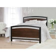 bello bkmb modern metal  wood bed frame in cocoa  black (king)